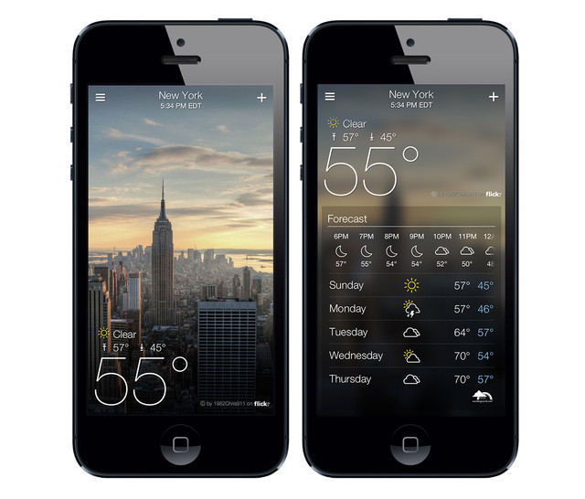 Yahoo's new weather application is a wonderfully executed combination of weather and Flickr — two of their most compelling user experiences. I'm excited to see what other kinds of combinations and game-changing user interfaces her teams can execute in the coming months. In the wake of Yahoo! product shutdowns and unexpected acquisitions, it's only a matter of time before Yahoo gets their act together once again with Mayer at the helm. (via 2 | New From Yahoo: Weather Meets Flickr, Email That Reads Like A Book | Fast Company | business innovation)