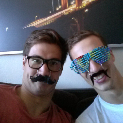nathangadrian: Myself and @fabiogimondi playing with our new glasses!