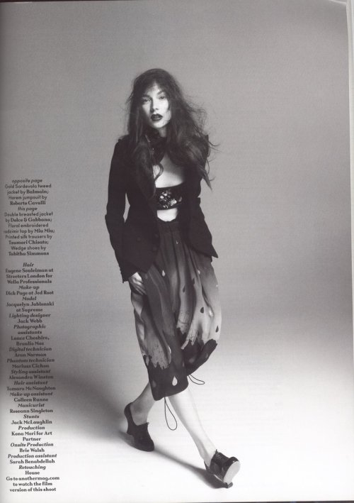 lovelostfashionfound:  Jacquelyn Jablonski - Another Magazine F/W 2010