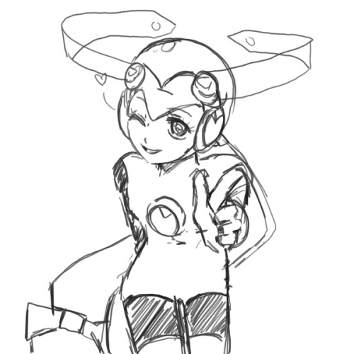 mochalatier:  I remember drawing Roll.EXE a lot in high school. She was always my favorite character!