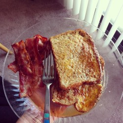 #yum #food #nom #breakfast #bacon #french #toast