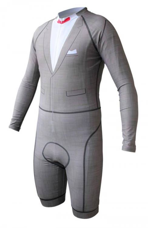 Pee-Wee Herman cycling skinsuit
