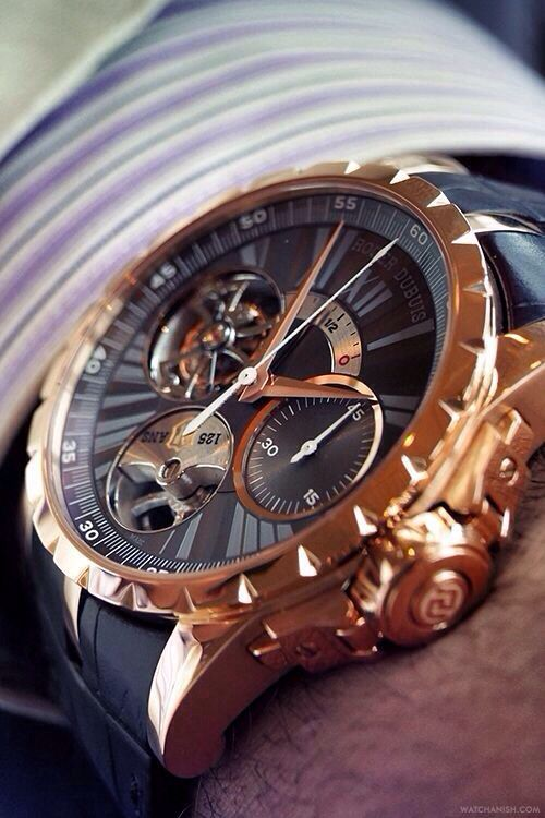 Roger Dubuis watch mens watch gold geneva style mens accessories menswear