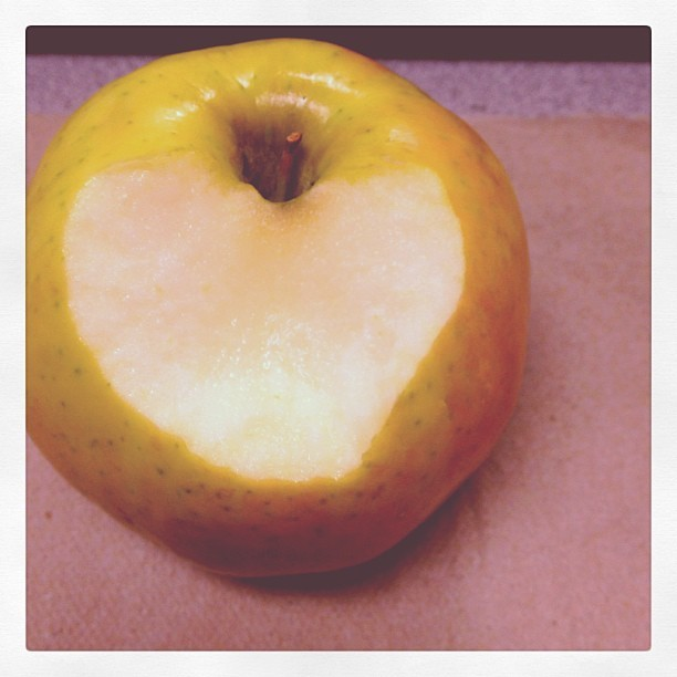 My heart shaped mouth #anappleaday #snacktime