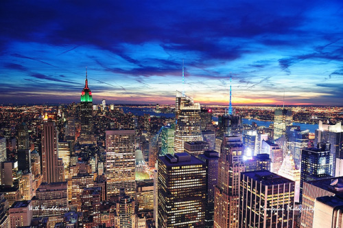 nycelevated:  New York City Manhattan skyline aerial view by Songquan Deng on Flickr.