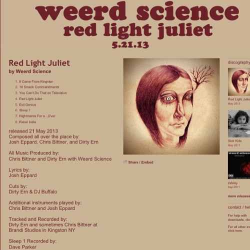 Tuesday is so close, yet so far! #RedLightJuliet will be up on #WeerdScience's #bandcamp then. <3 http://weerdscience.bandcamp.com