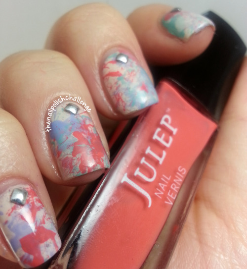 thenailpolishchallenge:  Spring paint splatter nails and Born Pretty Store nail studs! Use coupon code RFL91 to get 10% off your entire purchase and free shipping when you check out!