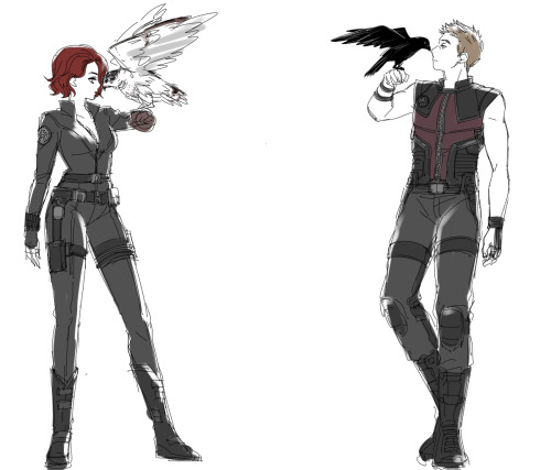tatallalock:  Nat & Clint (by Erato)