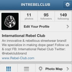 Are you serious! @intrebelclub needs MORE rebels!! If you follow me, you need to follow the #undergroundlegend #rebelclub #rebelshit #rebellife