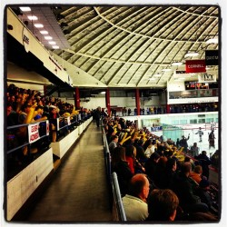 More than 250 Quinnipiac fans are cheering on our men's ice hockey team tonight at Brown.