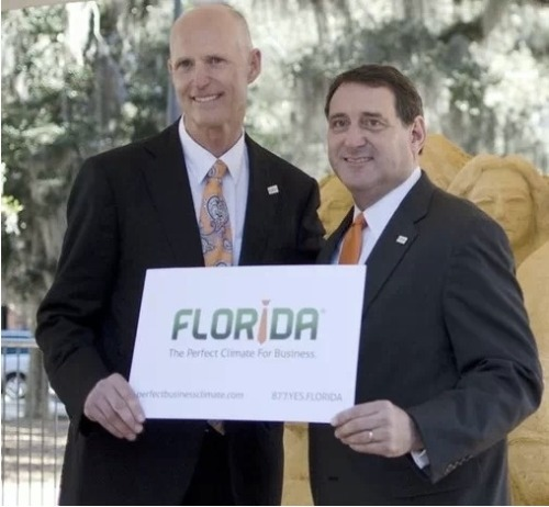 "The State of Florida unveiled a new logo today to help bring more businesses to the state… but, uh… is the new logo a tad sexist by just featuring a ""male"" neck tie? What do you think? Women are business owners too, right?"