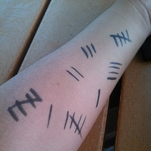 Where'd these marks come from? #silenceday #djm #doctorwho