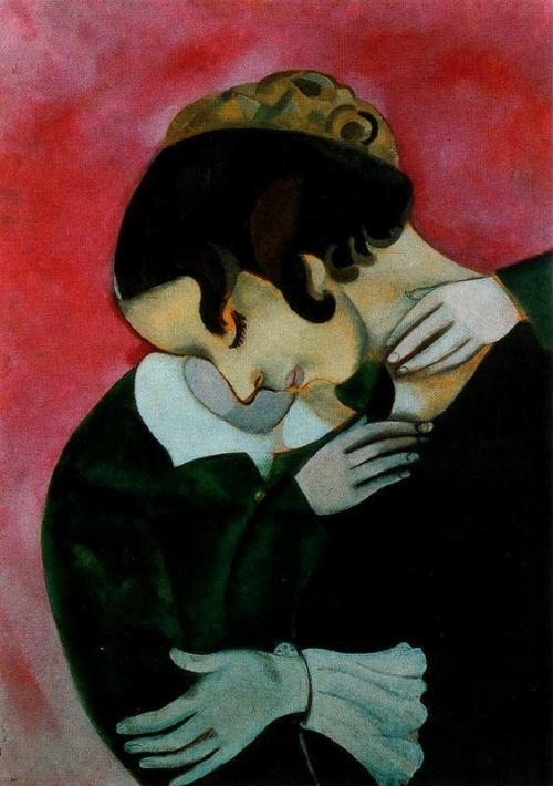 Marc Chagall - Lovers in Pink
