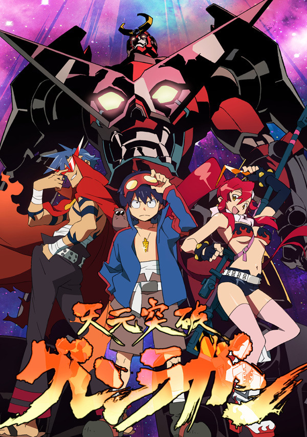 "stormofthunder:  Tengen Toppa Gurren Lagann MASTERPOST Click to watch. To download (which has a subtle quality improvement),click the download arrow in the upper-left corner, then click ""Download anyway"". EPISODES Episode 1 - Bust Through the Heavens with Your Drill! Episode 2 - I Said I'm Gonna Pilot That Thing!! Episode 3 - Who Do You Think You Are, Having Two Faces!? Episode 4 - Having Lots of Faces Doesn't Make You Great! Episode 5 - I Don't Get It, Not One Bit!"" Episode 6 - Sit in the Hot Tub 'Till You're Sick!! Episode 6  (Director's Cut/Uncut) - There are Some Things I Just Have to See!! (Slightly lower quality than the other version, 6 extra minutes of more fanservice-y content instead of flashbacks.) Episode 7 - You're Gonna Do It!! Episode 8 - Later, Buddy Episode  9 - What, Exactly, Is a Human? Episode 10 - Who Is This Bro? Episode 11 - Simon, Hands Off Episode 12 - Yoko, Will You Do Me a Favor? Episode 13 - Eat Up, Everyone! Episode 14 - Well Met, Everyone Episode 15 - I Will Head Towards Tomorrow Episode 16 - Compilation Episode Episode 17 - You Don't Know Anything! Episode 18 - Tell Me the Secrets of This World. Episode 19 - We Will Survive by Any Means Necessary Episode 20 - How Far Will God Test Us? Episode 21 - You Are Someone Who Ought to Survive Episode 22 - This is My Final Duty Episode 23 - Let's Go, This is the Final Battle Episode 24 - I'll Never Forget This Minute, This Second Episode 25 - I Accept Your Last Wish! Episode 26 - Let's Go, Buddy Episode 27 - The Lights in the Sky Are Stars PARALLEL WORKS  In conjunction with the release of the movie, Gainax has released series of music videos entitled Gurren Lagann Parallel Works which contains alternative stories of Gurren Lagann set to songs from the original soundtrack.  Parallel Works 1 - Rap is a Man's Soul! We Surpass the Impossible, and Kick Reason to the Curb! Open Your Ears Wide and Listen to Team Dai-Gurren's Theme! Parallel Works 2 - BafBaf! Being Fired Up Like This… Don't You Like It? Parallel Works 3 - Boin vs Boin Parallel Works 4 - Burst Through The Heavens With Your XXX! Parallel Works 5 - Rap is a Man's Soul! Open Your Ears Wide and Listen to the Great Kamina's Theme, the Man Who Believes in Himself and Surges at Heaven! Parallel Works 6 - To Hell WIth Combining! Parallel Works 7  - 'Libera Me' from Hell Parallel Works 8 - All You Bastards, Get Fired Up! Parallel Works 9 - Kittan Zero Parallel Works 10 -  The Sense of Wonder Parallel Works 11 - My XXX is the Best in the Universe Parallel Works 12 - Goodbye Dai-Gurren Parallel Works 13 - Big Building Parallel Works 14 - Kiyal's Magical Time, Three Minutes Before Parallel Works 15 - Gunmen Symphonia Parallel Works 15 - Gunmen Symphonia (Clean) MOVIES There are two Compilation Movies (with new scenes to help tie things together and provide movie-original climaxes). Sadly, the files are too big to make a preview, you'll have to download them! Gurren-hen: Childhood's End Lagann-hen: The Lights in the Sky are Stars EXTRAS Fan Webcomic. DOUBLE K (A Buddy Cop Show AU, and it is glorious.)  Soundtrack Yoko - ★ S.t.a.r.S ★ AMVs:  (these are really of personal taste, while I know not everyone likes AMVs, I just hope someone can enjoy these as well) Welcome To The Black Parade - Remastered Written in the Spirals Spin On 300 / The Dark Knight / Iron Man / Clash of the Titans Enjoy!"