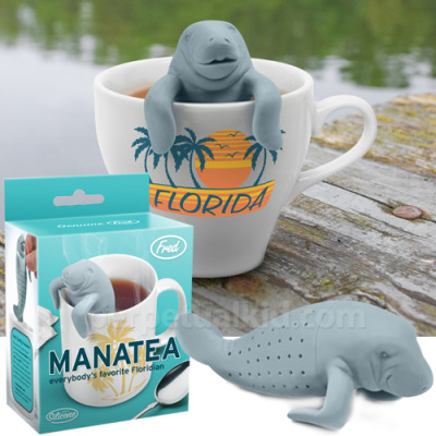 laughterkey:  agentotter:  urone:  Manatee Insanity: ManaTea Tea Infuser | Craziest Gadgets  OH MY GOD I MUST POSSESS THIS  RACHEL.