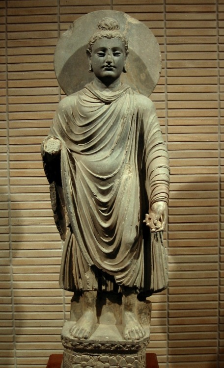 This is a sculpture of the Buddha, dating back from the 1st to 2nd century AD, found in what is today eastern Afghanistan (but what was then called Gandhara). Notice the resemblance to a Greek sculpture? That's not a coincidence: this unique piece reflects a rare art form known Greco-Buddhist style.  This fusion of Greek, Indian, Persian, and Buddhist culture developed between 300 BC and the 400 AD in what is now modern Afghanistan, Pakistan and India. It was the result of a long chain of interactions begun by Greek forays into India that began with Alexander the Great. Even though his empire collapsed almost right after his death, what most people don't know is that it broke into various Greek-ruled kingdoms that remained for centuries and fused local cultures with Greek (also called Hellenic) culture.  Examples include Greek rulers claiming to be reincarnations of previous local leaders, certain Buddhist figures being portrayed as Greek gods (and visa versa), a combination of clothing styles, exchange of rituals, and even the creation of new languages and philosophies.  In fact, to this day, you can still find some Afghans, Pakistanis, and Indians who are descended from Greeks. It's claimed that Buddhism may have influenced Western thought through Greece too: some have found similarities between the teachings of Jesus and the Stoics with that of the Buddha (though the connection is disputed and difficult to trace).