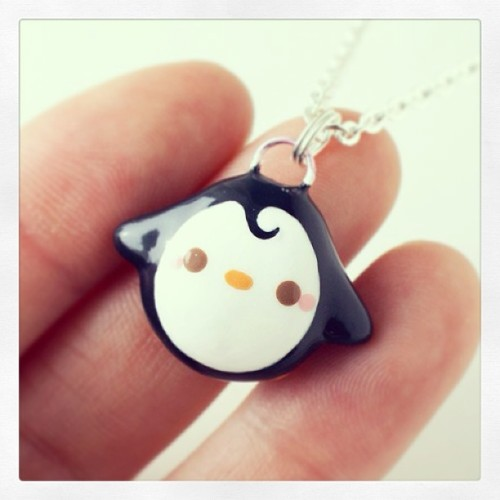 Kawaii Penguin Necklace http://www.shanalogic.com/kawaii-penguin-necklace.html #penguin #handmade