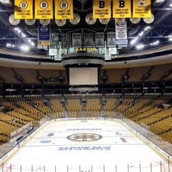 nhlbruins:  An empty @tdgarden awaits the B's for morning skate and tonight's Game 5 crowd #nhlbruins