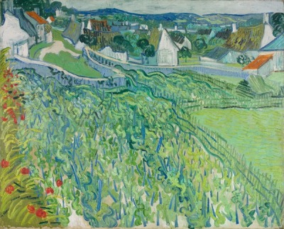 dappledwithshadow:  Vineyards at Auvers, Vincent van Gogh 1890
