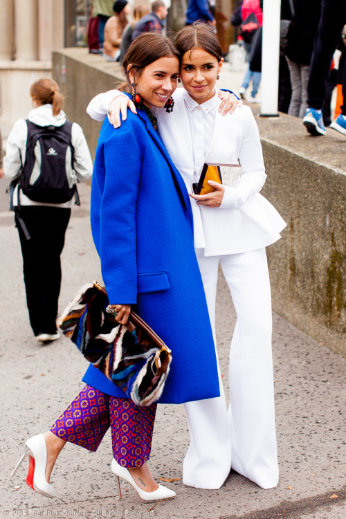 Paris Fashion Week S/S 2013: Natasha and Miroslava