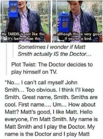 kyuketsuki-of-gallifrey:  I believe there is a Time Lord inside every actor to play The Doctor.