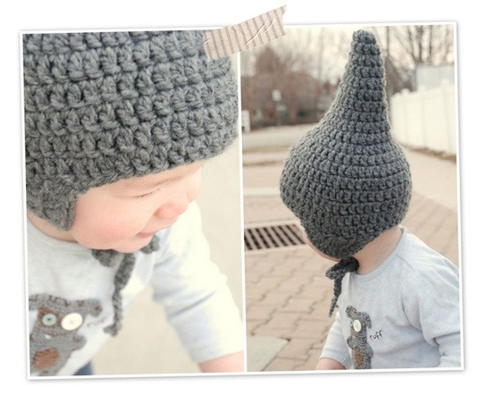 Tutorial : How to Crochet a Baby Gnome Hat Well, why not?  Amazing tutorial with seriously good picks via Lorajean's Magazine