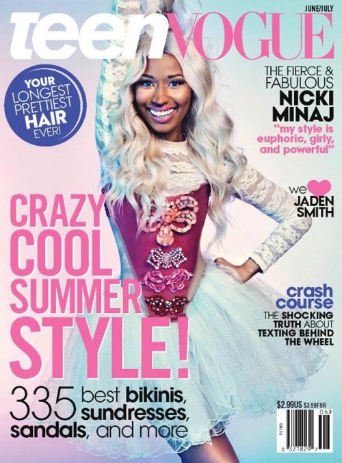 devoutfashion:  Nicki Minaj Covers Teen Vogue June/July 2013 by Sebastian Kim