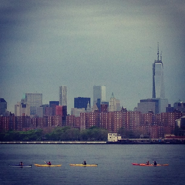 East River kayaking (at WNYC Transmitter Park)