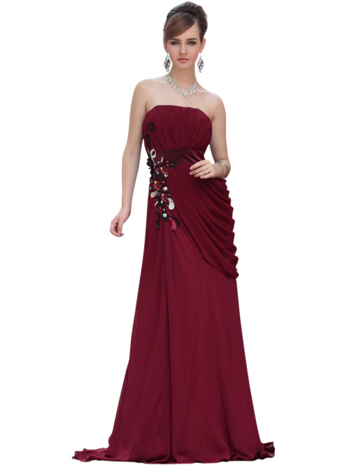 BROOKE IN STRAPLESS RED EVENING DRESS  SKU# 30611 Be the first to review this product Availability: In stock £235.00