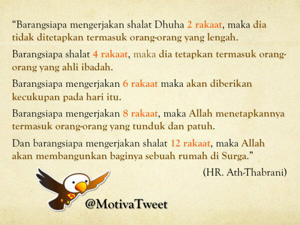 tina-yuliani:  Manfaat Sholat Dhuha @MotivaTweet
