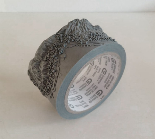 Awesome intricate sculptures out of electrical tape and thread by Takahiro Iwasaki.