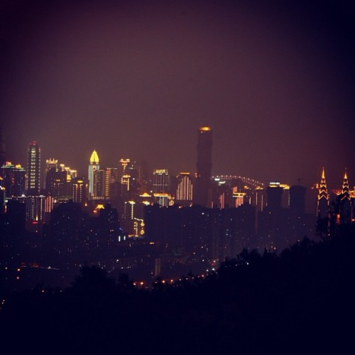 pandacc:  Missing my home town,start to count the days #chongqing #night