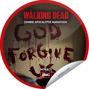 I just unlocked the Zombie Apocalypse Marathon: Day 1 sticker on GetGlue                      9034 others have also unlocked the Zombie Apocalypse Marathon: Day 1 sticker on GetGlue.com                  We're counting down to The Walking Dead's Season 3 finale, Sunday March 31 at 9/8c. Thanks for watching!  Share this one proudly. It's from our friends at AMC.