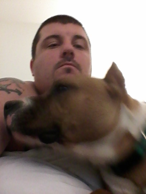 me and my dog O'Shea up in the hotel :-)