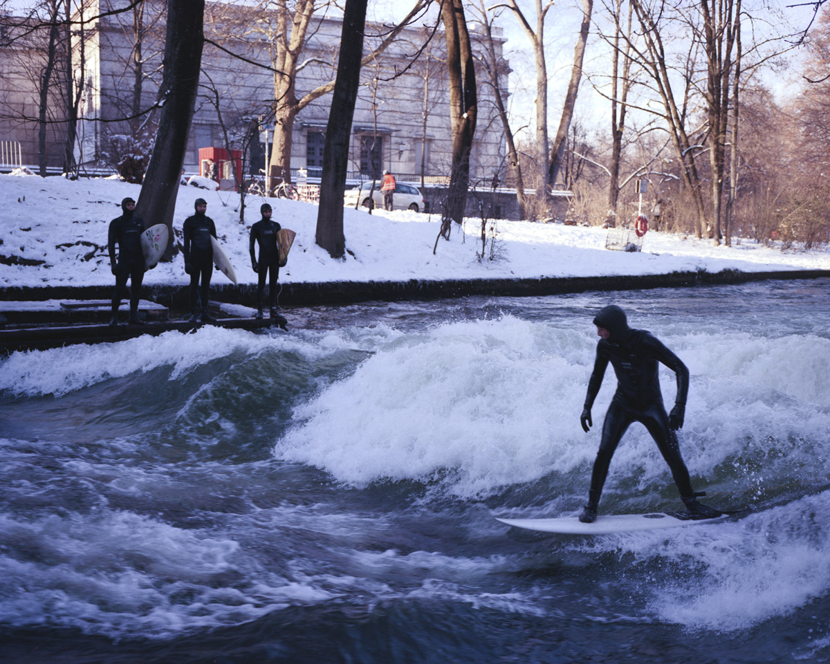 Eisbach, Munich following the traces of Thomas Prior!