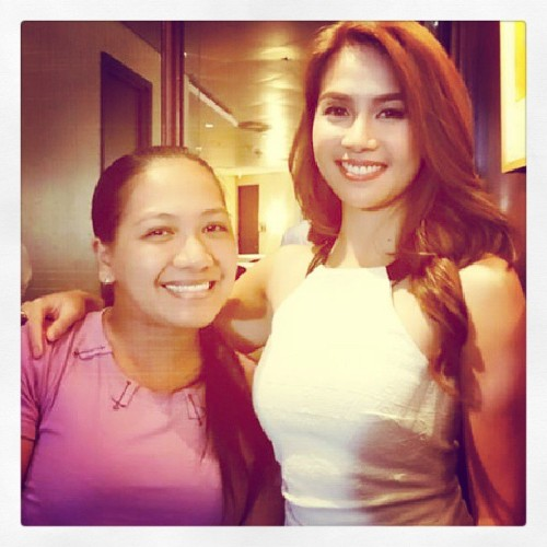 With @kaye_abad :) she portrays the role of Stella in Annaliza, who will make the young girl's life miserable. Watch Annaliza starting May 27 on Primetime Bida before TV Patrol #annaliza #abscbn #igersmanila #pinoy #Philippines
