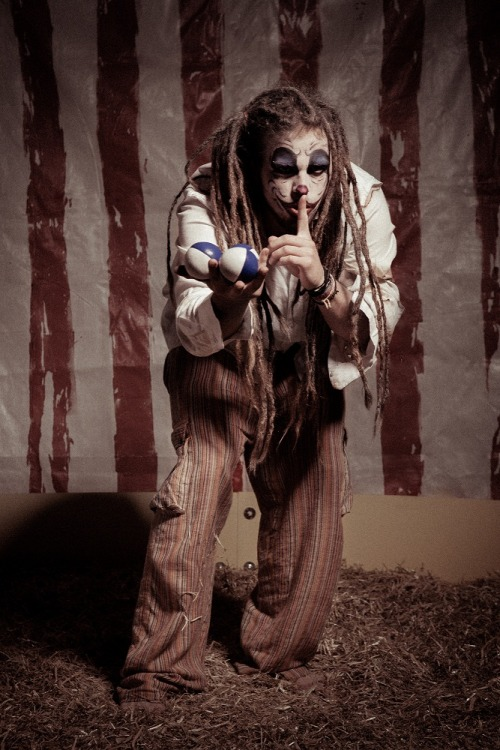 Clown boy ;-) CIRCUS BIZARREPhotography - Mark O'Grady-PhotographySet built by - Mark O'GradyMakeup & Styling: Alice Bizarre Make UpModels: Ádám Tóth