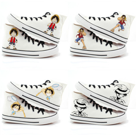 custompaintedshoes:  One Piece Monkey D Luffy hand painted shoes