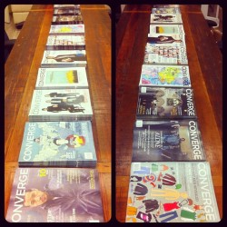 convergemag:  All in a row! 2 years, 10 issues. Which is your favourite cover?