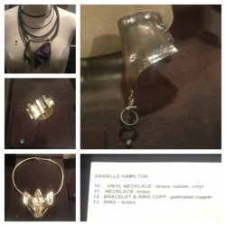 My jewelry in the Art & Design exhibition ☺ #jewelry #FIT #NYC