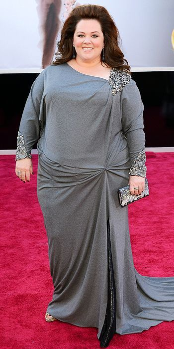Melissa McCarthy in David Meister at the 85th Annual Academy Awards I love Melissa, but I wish she would coordinate with Tadashi Shoji and steal some of the awesome dresses that Octavia Spencer is always wearing.