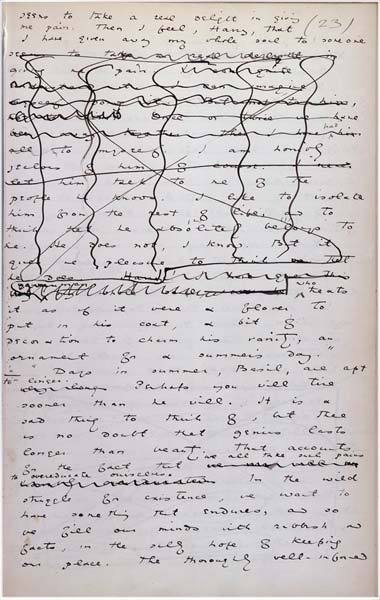 thefallofkain:  This is page 23 of the manuscript of The Picture of Dorian Gray (written, of course, in Oscar Wilde's hand).