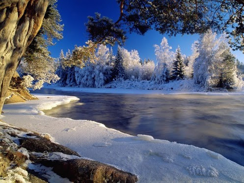 Dal River in winter, Sweden on Flickr.