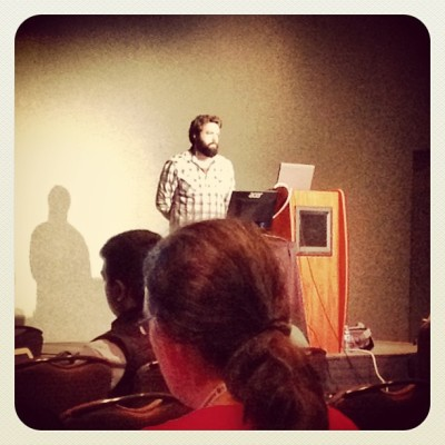 zach galifianakis is here giving a talk #pycon (at Santa Clara Convention Center)