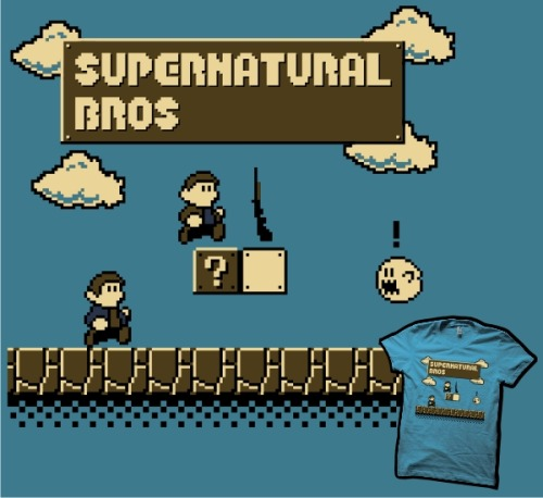 Haven't voted for my Supernatural Bros T-shirt design to be printed at 604Republic yet? You're in luck, you still have 26 days left to click here and do it! :P