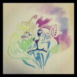 i drew this for corbin lol #lion #smoking #rainbow #colorful #ganja #maryjane #weed #marijuana #thuglife #trippy #af #lol #instacute #instalike #doubletap