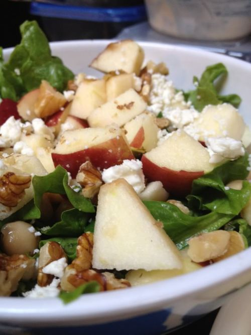 hungryrunner:  Easy Apple-Walnut Chicken Salad  Sounds good! We'll have to make it.