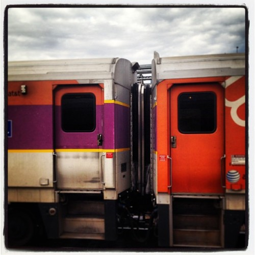 Train leaving Boston. #mbta #igersboston #iheartboston