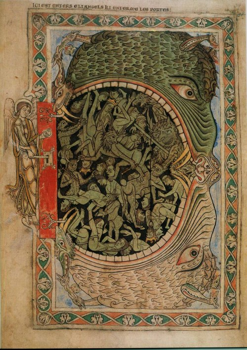 baedekersandbeasties:  An archangel locking the hell-mouth.