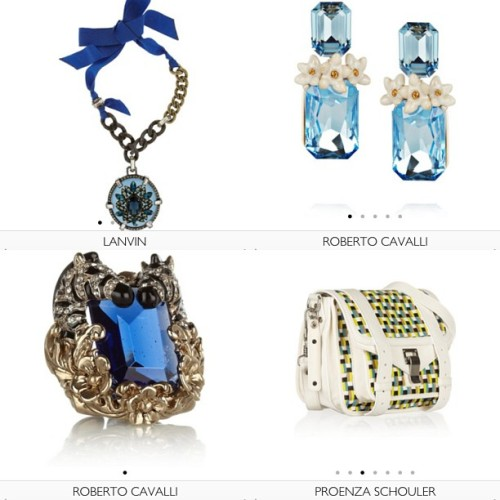 If I had the money, this fantastic 4 from what's new @netaporter would've been on the way 2 my arms by now !! Only if!!! #shopping #list #whatsnew #netaporter @roberto_cavalli #lanvin @proenzaschouler #ps1 #earrings #ring #zebra #somethingblue #bag #musthave #ss13 #shopping #online #ootd
